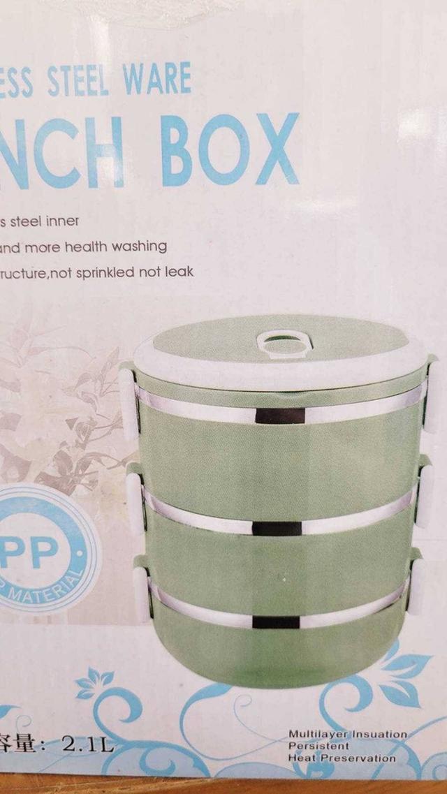 #廠商少量現貨三層攜帶式保溫便當盒(顏色隨機不