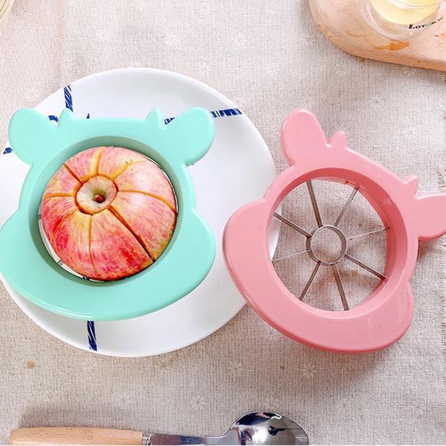不銹鋼切蘋果去核器 水果切片器 切果器 分割器 切割器 蘋果刀 水果刀