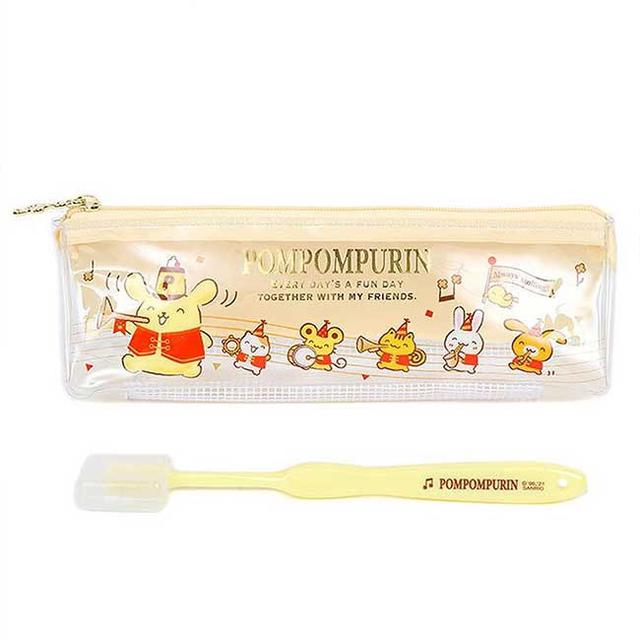 旅行牙刷組 Sanrio 布丁狗  日本進口正版授權