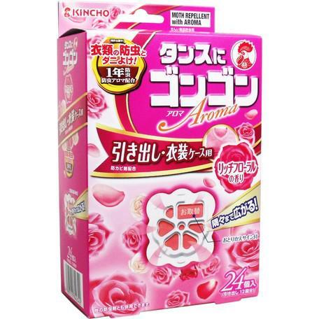 日本KINCHO金雞衣櫃防蟲防蟎防霉芳香劑~