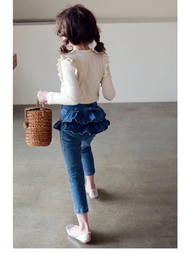童裝|甜蜜蝴蝶結雙層牛仔褲