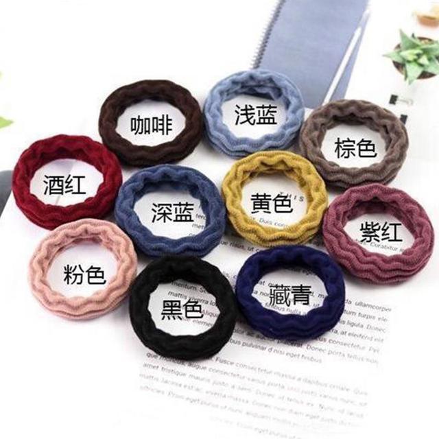 加粗高彈力發繩無接縫發圈成人扎頭髮皮套皮筋女韓國簡約頭繩飾品200條批發A1339