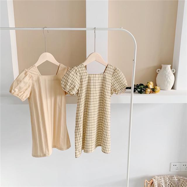 韓國韓貨童裝批發 2021夏季短袖公主裙韓版棉寶寶連衣裙裙子