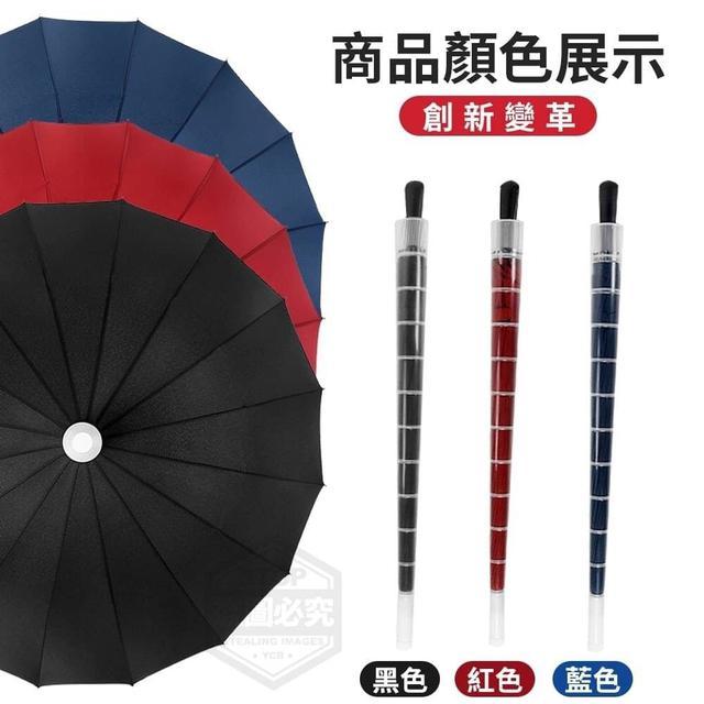 大傘面抗風黑膠直立傘
