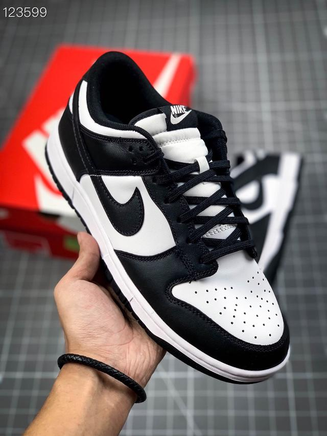 NK Dunk Low Retro Black 「黑白熊貓」休閒鞋