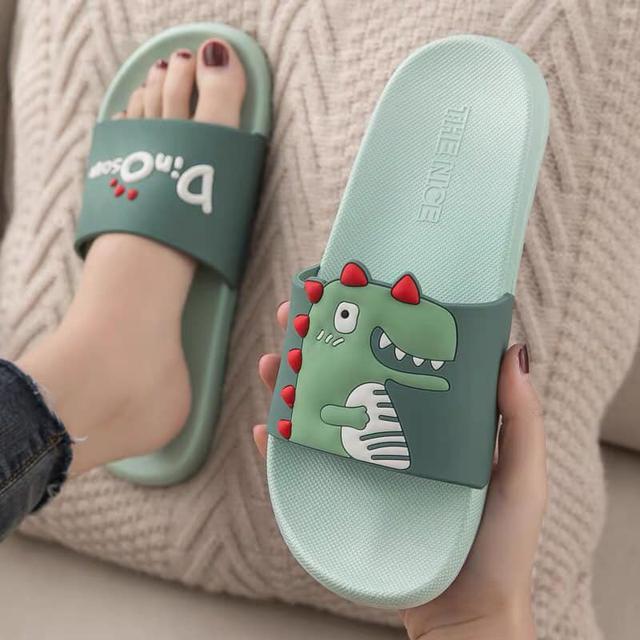 恐龍浴室防滑拖鞋