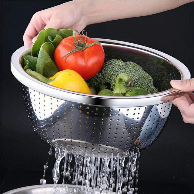 304不鏽鋼洗菜瀝水盆