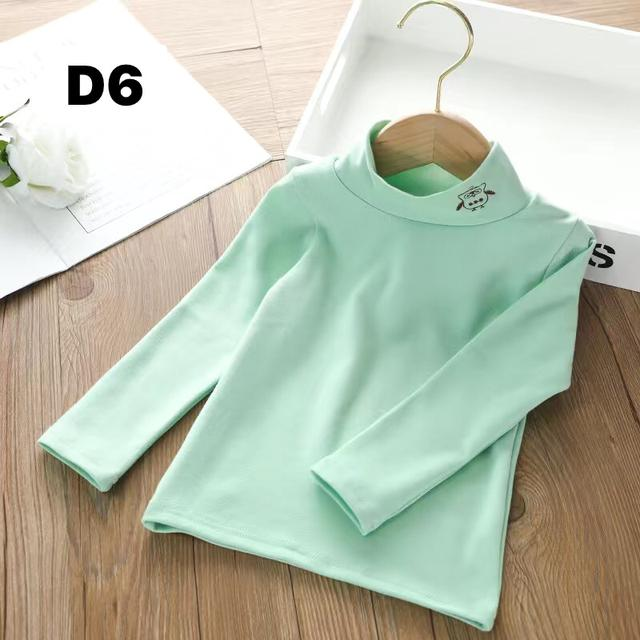 女童打底衫長袖t恤洋氣秋季新款2020年純棉中高領保暖內搭上衣