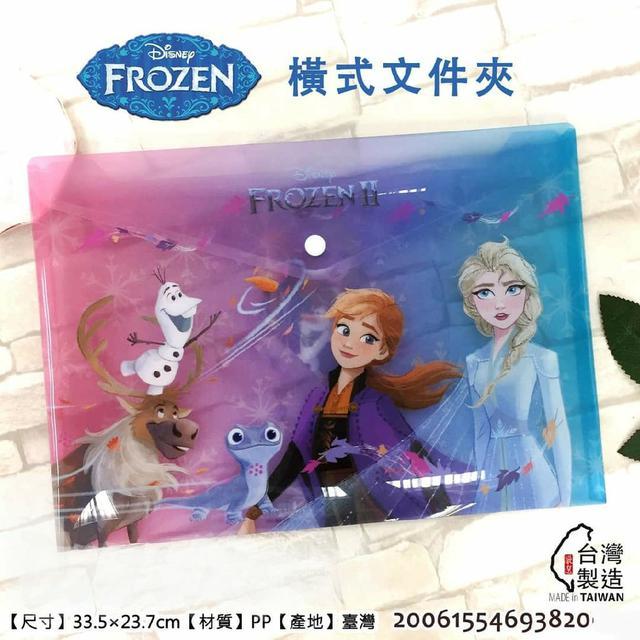 迪士尼 冰雪 橫式文件夾