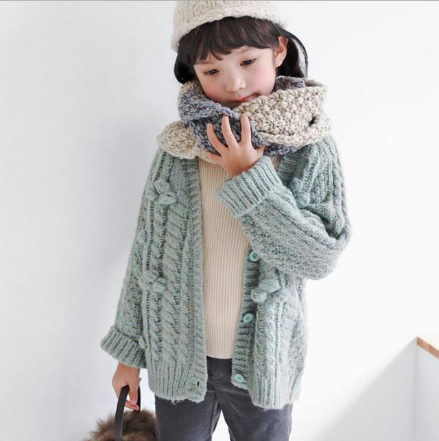 11 80-120 小童裝 百軟糯開衫羊毛針織衫外套(3色) 2461
