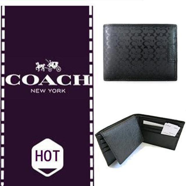 COACH 74547 男士 錢夾 黑色新款 大促銷直購價