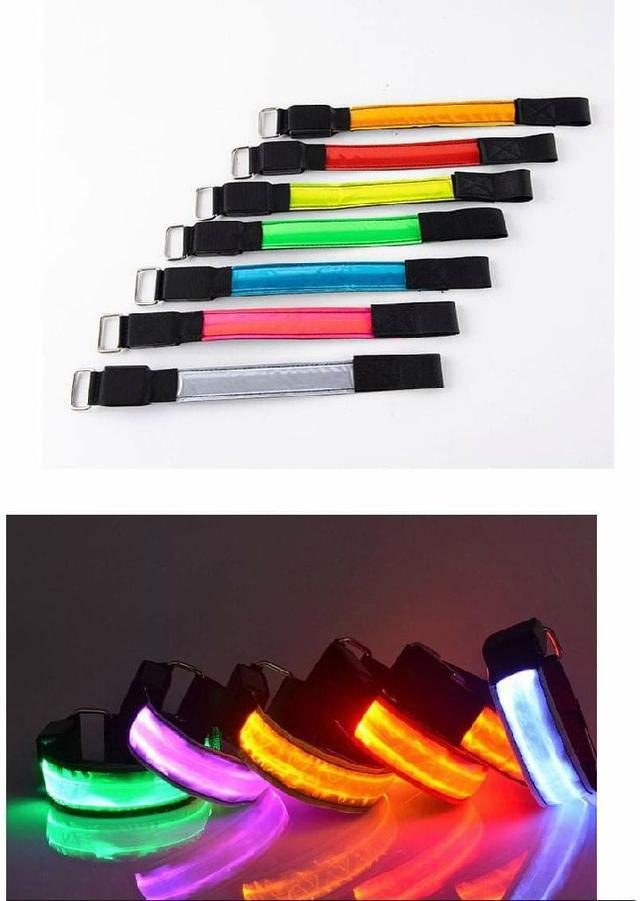 (預購S) G598 - LED發光手臂手環(一組2個)