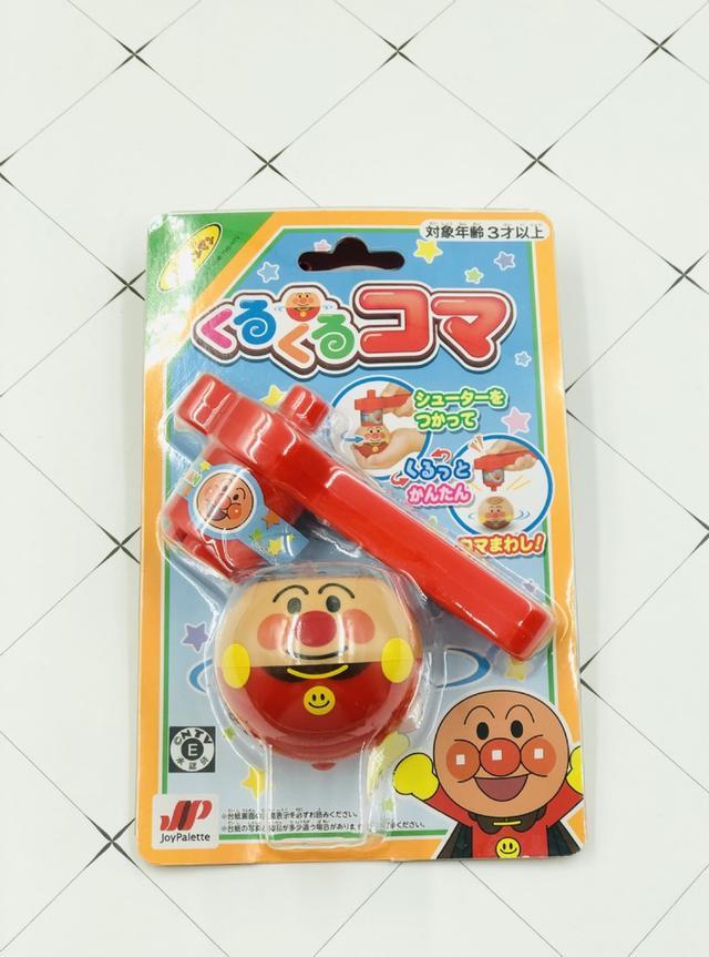 日本麵包超人造型陀螺玩具