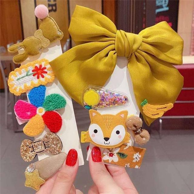 (L)預購 韓國可愛公主髮夾10件組