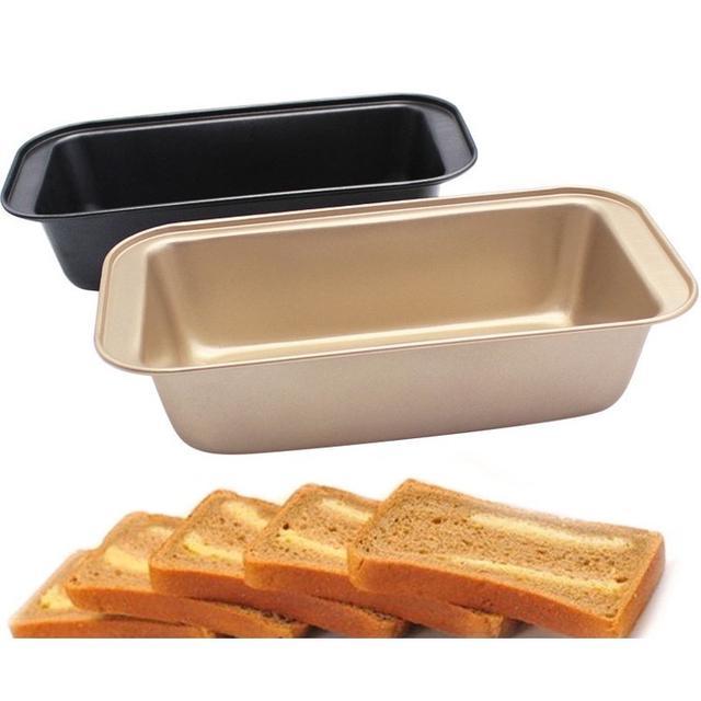 450g長方形 金色 黑色 防粘土司模 烘焙模具  烤箱不沾蛋糕 吐司 面包 烤箱用 DIY模具