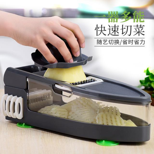 升級多功能切菜器刨絲器 快速切片器 廚房工具