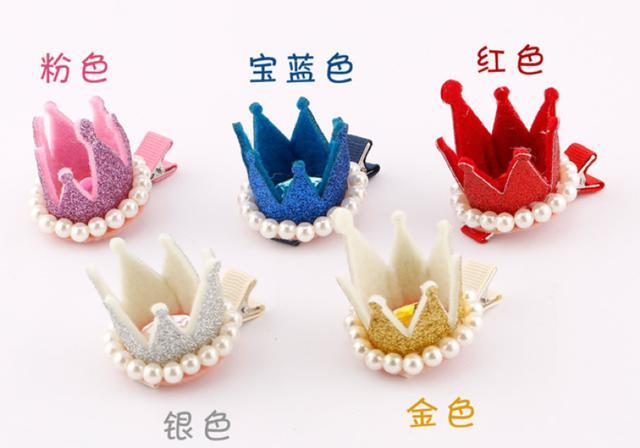<預購>韓版兒童珍珠小皇冠髮夾 (促銷價)