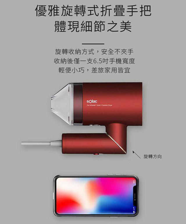 Solac 負離子生物陶瓷吹機HCL-501【08/02】