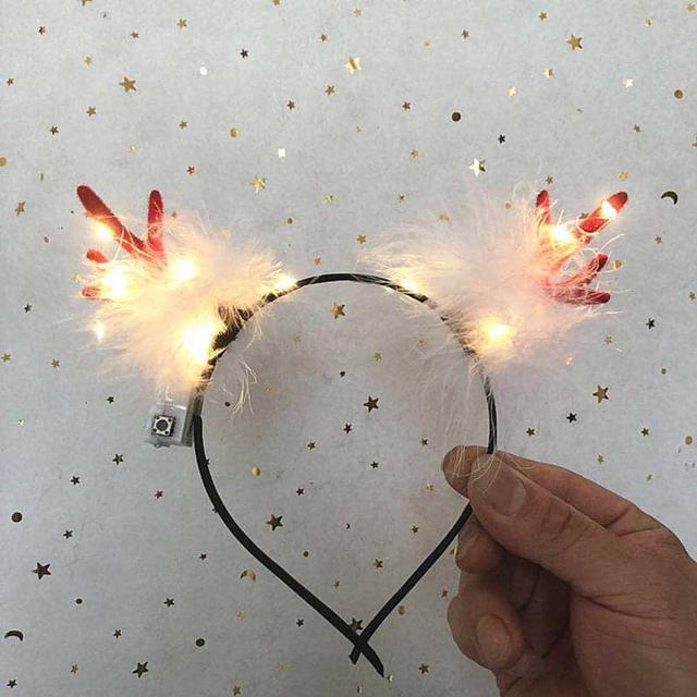 (預購S) G510 - 聖誕節發光鹿角頭箍(一組兩個)