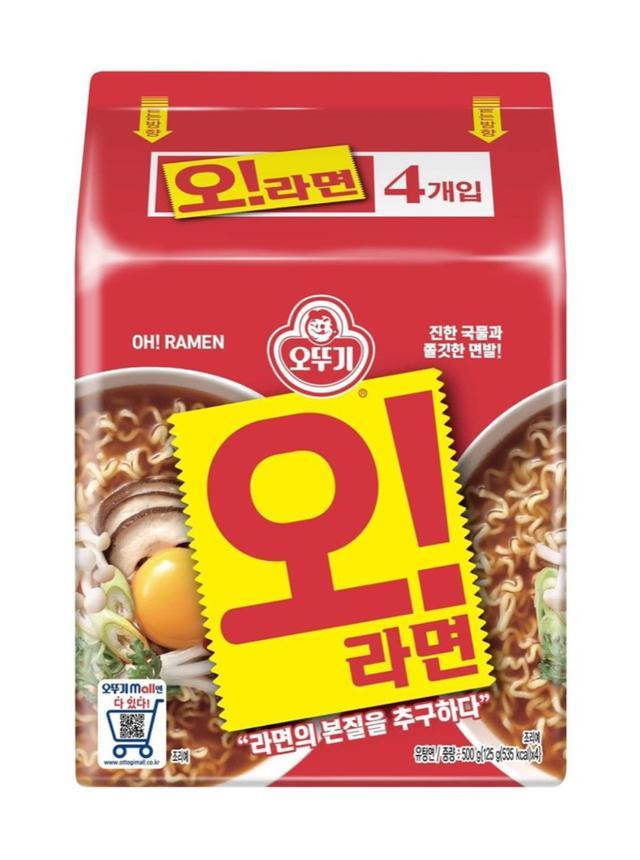 韓國 不倒翁 牛骨 湯麵 拉麵 4入