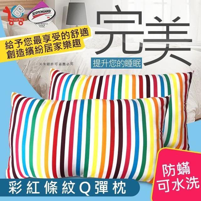 (現貨)台灣製造防蹣抗菌彩虹枕