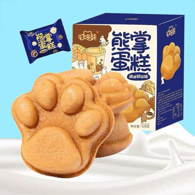 叮咚熊 熊掌蛋糕 波波奶茶味(預購)