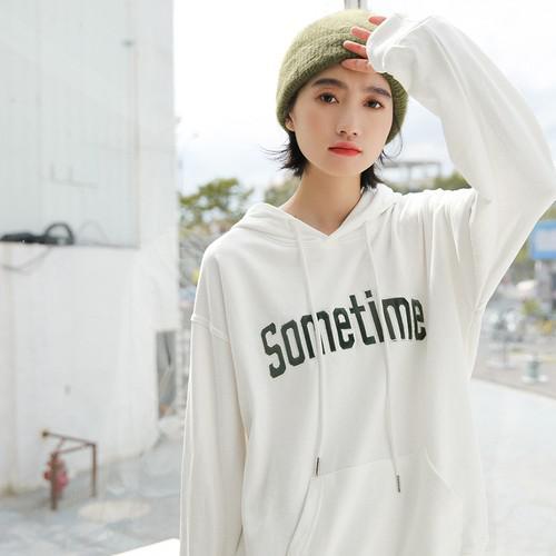 11 韓國時尚 寬鬆連帽衛衣(2色)
