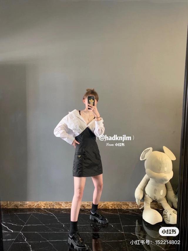 普拉達襯衣裙