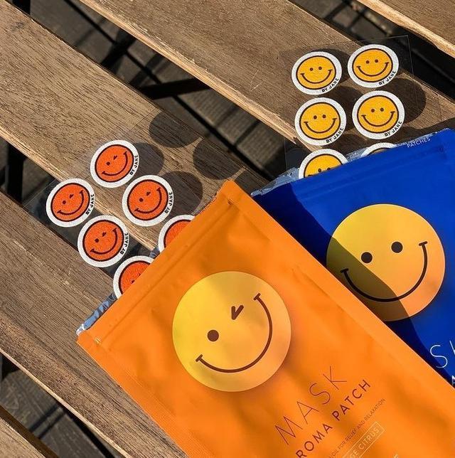 現貨 笑臉口罩香氛貼片 8枚(包) 口罩貼Fresh Peppermint 尤加利薄荷(藍袋)