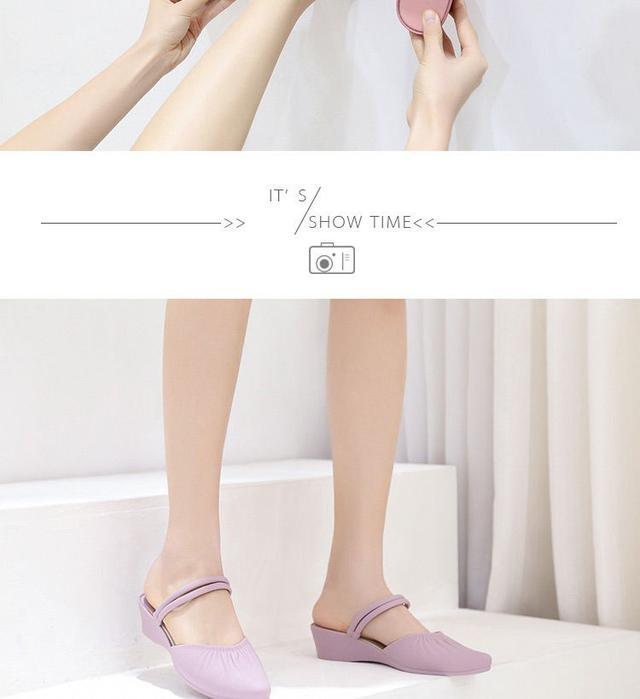 新款凉鞋兩穿夏外穿粗跟增高防滑