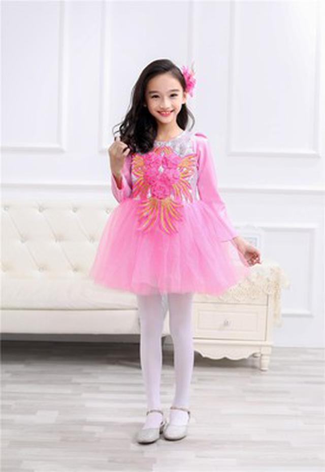 (預購)兒童粉色公主裙幼兒蓬蓬纱裙