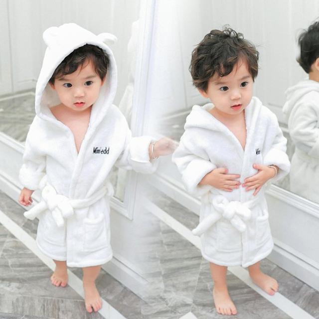 寶寶法蘭絨睡袍