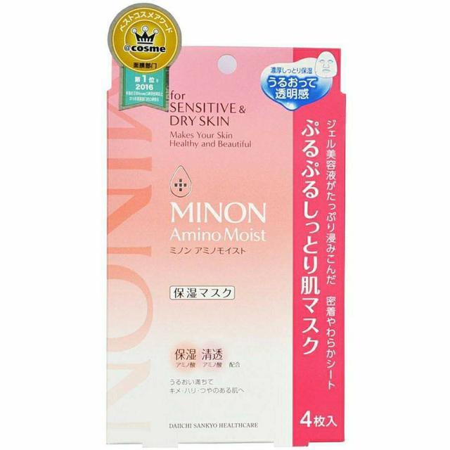 日本MINON水潤保濕修護面膜 4片裝