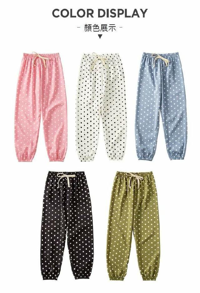 (預購S) K259 - 兒童舒適波點防蚊褲
