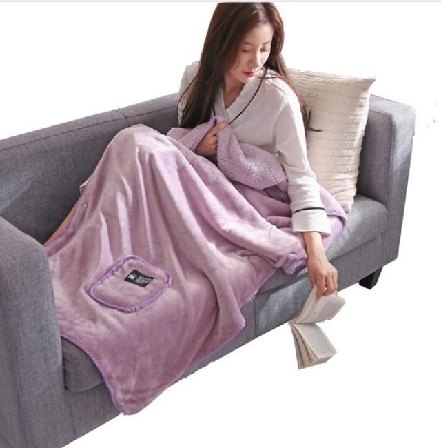 保暖披肩毛毯.蓋毯.多功能毯