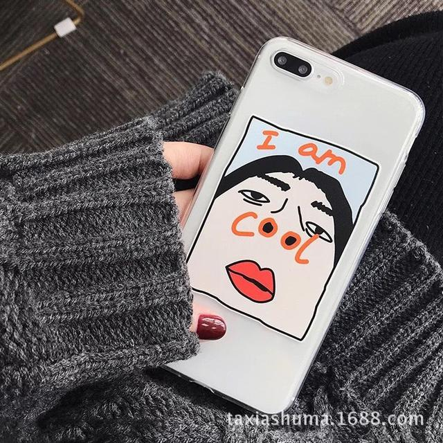 iphone大鼻孔少女手機殼