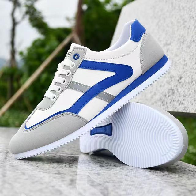 秋季軟底跑步男鞋時尚透氣低幫鞋男士運動戶外訓練鞋子布鞋