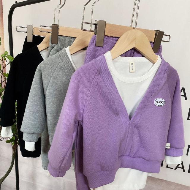 【預購】韓版男童簡約套裝3件組