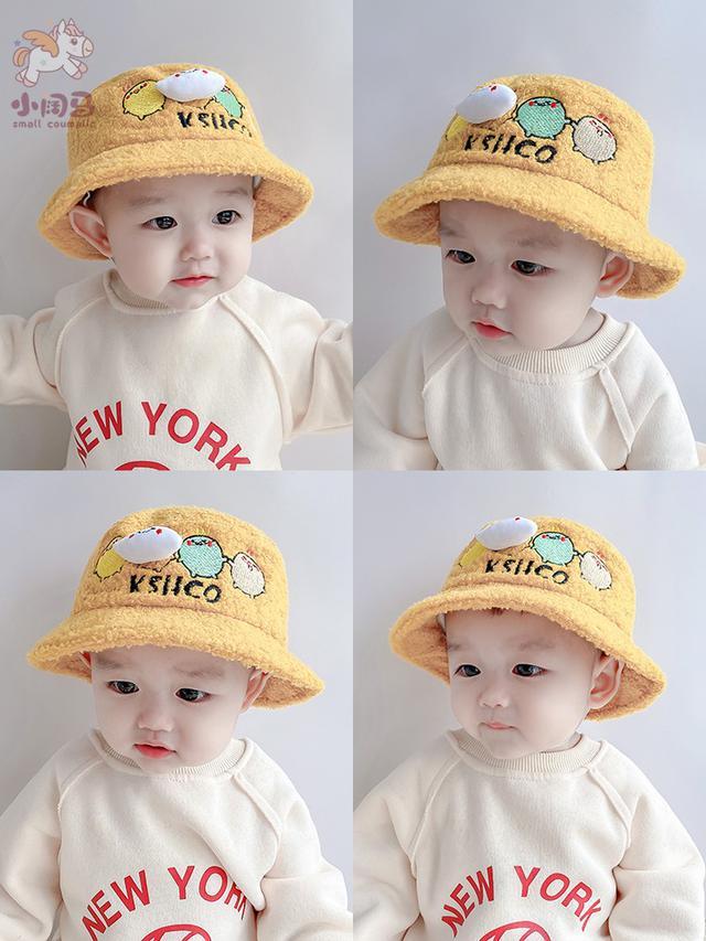 秋冬季婴幼兒童渔夫帽(貝)