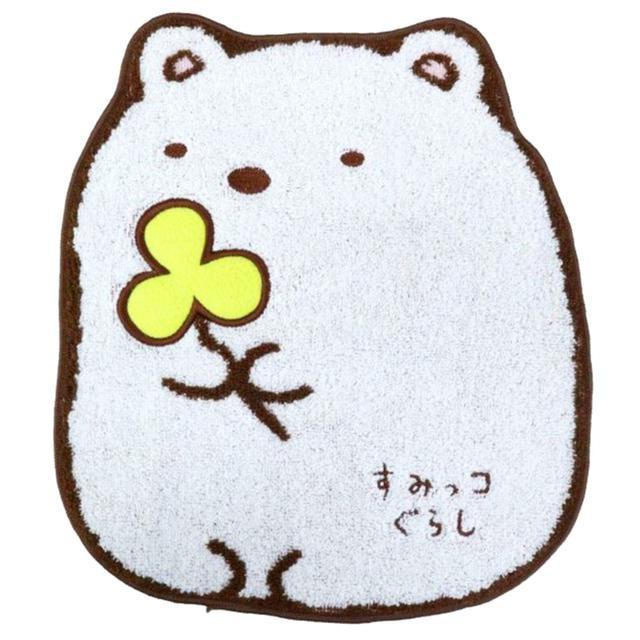 純棉無捻紗小毛巾-白熊 角落生物