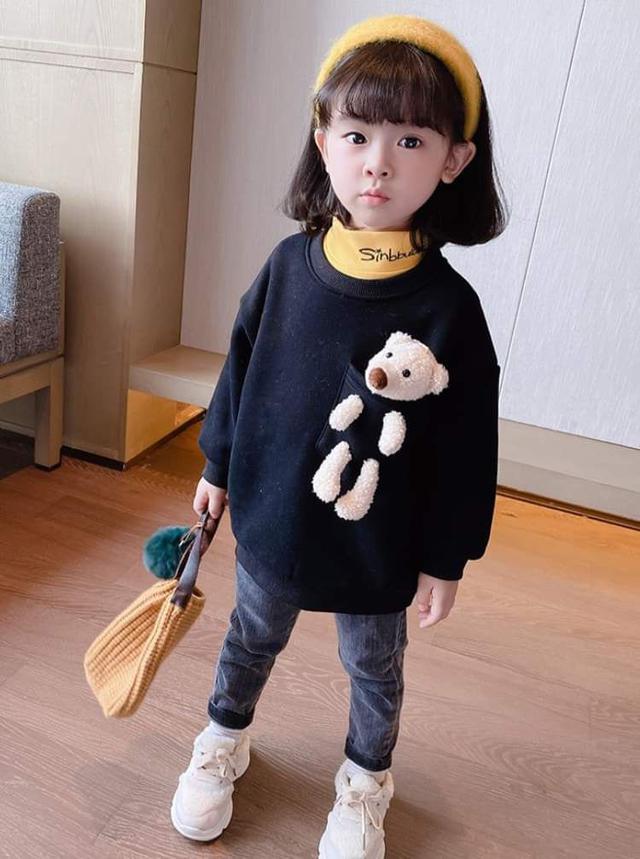 【預購】兒童小熊刷絨衛衣