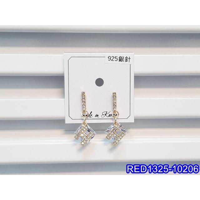 ❣️ 正韓S925純銀 閃鑽字母H方形鋯石耳環   耳針 韓式❣️