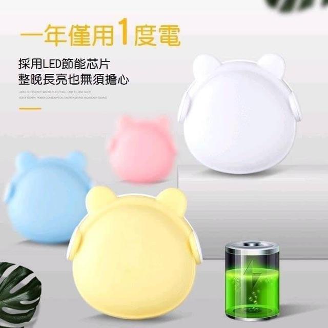 🔥耳機熊造型LED自動光控感應燈(2團)🔥