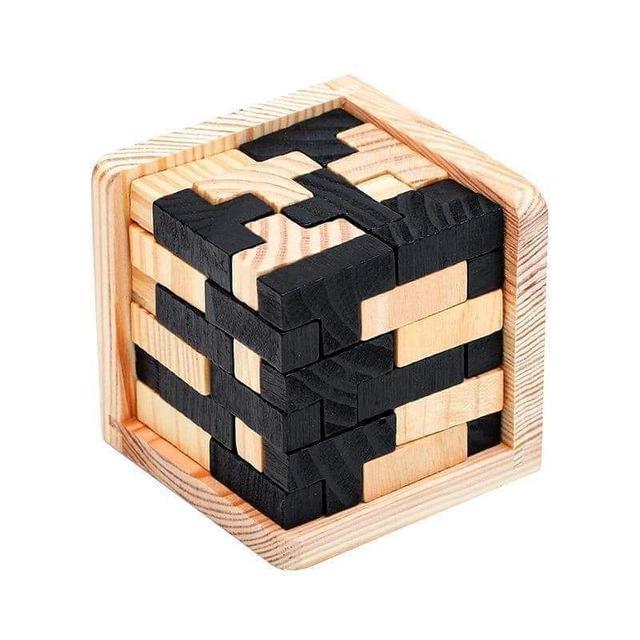(預購S) G952 - 益智實木巧拼積木動腦玩具