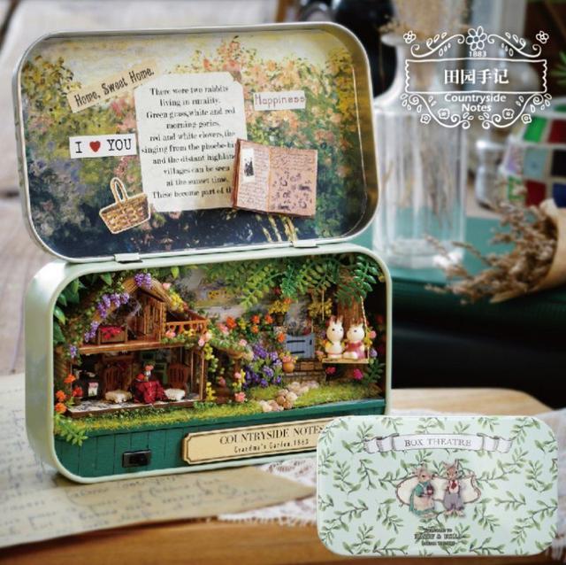 預購#手工製作盒子模型diy小屋
