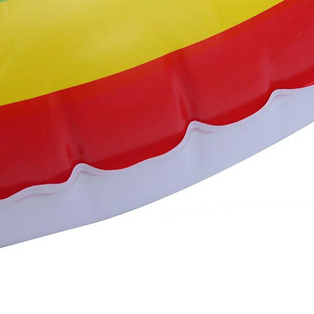彩虹條紋游泳圈兒童成人加厚防漏氣腋下救生圈LSJ19072301