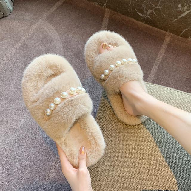 預購-時尚外穿毛毛鞋百搭韓版家用棉拖鞋