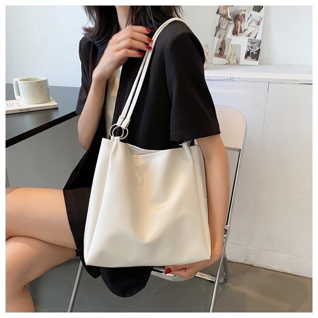 p.in shop-正韓素色水桶包單肩包