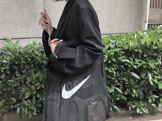 NIKE 耐克网纱购物袋购物包健身包