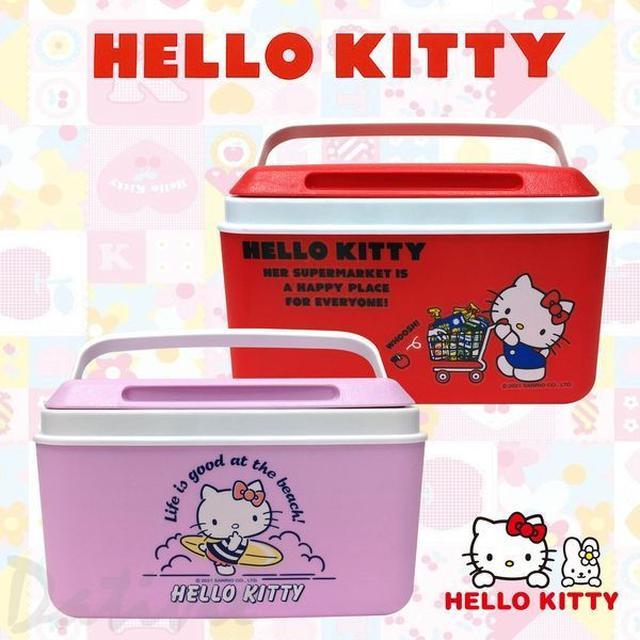 三麗鷗 Sanrio Hello Kitty 行動保冰桶 防滑提手 輕巧 野餐 正版授權